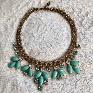 Forever 21 Jewelry - Aqua statement necklace!